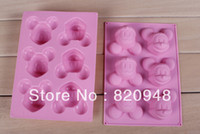 Wholesale Chocolate DIY Ice Cube Jelly Cake Silicone Baking Mold Holes Mickey Mouse Cookie Cup Handmade Mould