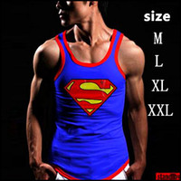 asia tees - Seconds Kill Mens Superman Tank Tops for Summer Boys Sexy Sleeveless T Shirts Tees Printed Singlet Cotton Vest Asia M xxl
