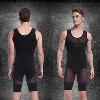 Cheap Wholesale-Men Body Shaper Vest Shapewear Corset Slimming Shirt Tight Girdle Underwear New For Free Shipping
