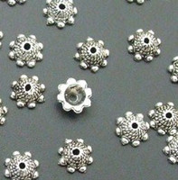 bali silver clasps - Tibetan Silver Bali Style Filigree Bead Caps