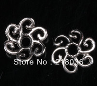 bali silver connectors - Tibetan Silver Bali Style Flowers Bead Caps Connectors DIY Metal Jewelry mm M876
