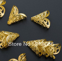 bali gold jewelry - Fashion Bali Style Gold Plated Filigree Beads End Caps Cones DIY Jewelry C361