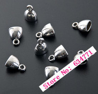 cord stoppers - Tibetan Silver Zinc Alloy Cup Cord End Cap Stopper x13mm