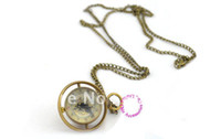 antique buyers - buyer price good quality girl woman lady new bronze Harry Potter spin glass ball mechanical steampunk pocket watch