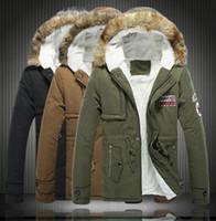 men fur coat - Big Size S XL Winter Russian Mens Fur Coat Army Green Outwear Coats Military Man Jacket Hombre Winter Jacket Men Parkas Coats