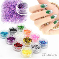 acrylic powder color - Mixed Color Flash AceCool Shiny Glitter Nail Tool Acrylic Powder Sexangle Shape Nail sequins