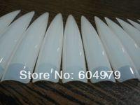 artificial nail tips - The longest length cm bags Clear Nature Acrylic Nail Art Long Stiletto Sharp Ending Salon Artificial False Haft Tips
