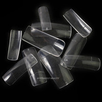 Wholesale Pro Clear Half Well False Acrylic Nail Art Tips fake nail artificial nails K47