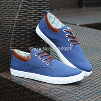 Cheap Wholesale-Leisure fashion flat low vandal strappy men shoes in summer&autumn with cotton plastic cement color matching