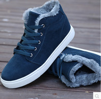 Cheap Wholesale-2015 new men shoes sneakers casual winter high warm cotton padded ankle boots uk style snow boots Skateboard shoes 8a105