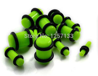 Wholesale 2 MM pairs Acrylic Candy Color Screw Ear Gauges Plugs Ear Plugs Tunnels Body Piercing Jewelry