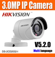 Wholesale Hikvision MP DS CD2032 I P IP Camera CCTV Camera V5 real time image IR Distance Night Vision Network Camera