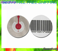 barcode label free - EAS SOFT TAG PACK CIRCLE MM MHZ RF BARCODE EAS SOFT RF LABEL SECURITY SOFT TAG
