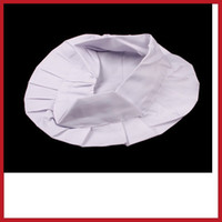 bbq costume - alione Adult Elastic White Chef Hat Baker BBQ Kitchen Cooking Hat Costume Cap One Size High Quality