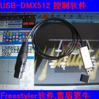 auto dimming - MINI USB to DMX Interface Adapter Controller DMX512 PC Stage Lighting Controller Dimmer Dongle Freestyler USB512