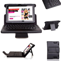 Wholesale Leather Kindle Keyboard Covers - Wholesale-Hot-sale Detachable Ultra Slim Magnetic PU Leather Folio Case Cover Built-in Bluetooth Keyboard for Kindle Fire HDX 7