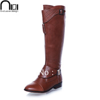 rubber boots - women motorcycle boots flat heel cowhide platform genuine leather winter brand botas shoes woman fashion rubber boots ladies
