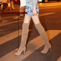 Cheap Wholesale-2015 autumn New Fashion Thigh High long Boots Crotch boots Over The Knee Boots Stiletto High Heels Platform boots big size 34-43