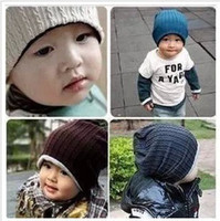Wholesale 5 Colors Baby Kids Infant Toddler Beanie Hat Warm Winter Boys Girls Cap Children Accessories
