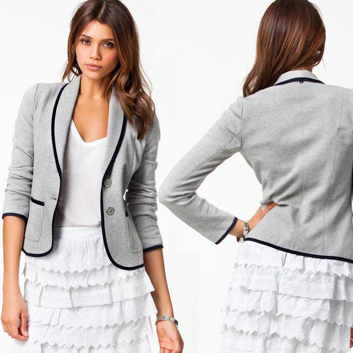 2015 New Fashion Spring Women Suits Short Design Turn Down Collar ...