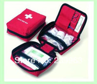 Wholesale Family First Aid Kit Necessary To Outdoor Travel Safety Portable Red Sale Price Set