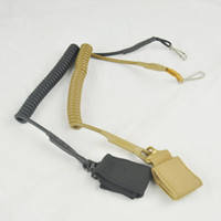 Wholesale Retractable pistol lanyard gun cable paracord military army purpose