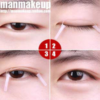 beautiful male faces - Male double faced eyelid fiber strip invisible beautiful eyes stickers line natural nude makeup