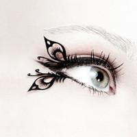 artistic false eyelashes - pair pack Sexy slim Artistic creative open work butterfly false fake eyelashes