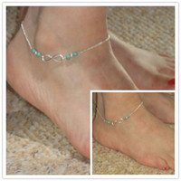 Cheap Wholesale-3Pcs Elegant Turquoise Bead Anklet Foot Sandal Beach Jewelry Ankle Barefoot Bracelet