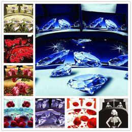 Wholesale ANN a nice night bedding set king size red rose flower bed set sale price d bedding sets roupa de cama bed duvet cover