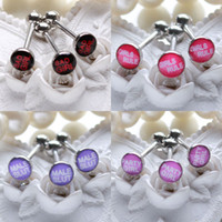 bad girls logo - Mixed items fashion Bad Girl tongue piercing bars stainless steel logo tongue rings