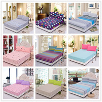 Wholesale New set Cotton Bed Sheet Twin Queen Full Size Bedding Sets Fitted Sheet Cushion Cover and Pillowcase