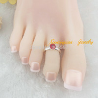 Wholesale silver gold plated copper material fashion body jewelry rhinestone crystal toe rings for women