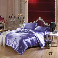 Cheap Wholesale-Free Shipping 3 size of 21 colors satin silk textile cotton quilt cotton marriage celebration bedding denim bedding deals