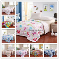 Wholesale new cotton quilts summer blanket sheet Home Textile Patchwork quilts duvet set comforter set bed linen cartoon quilted