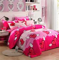 bedding clearance sale - Clearance sales Textile piece set bed sheets duvet cover cotton princess bedding set XY