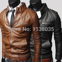 supreme clothing - Men s Clothing Leather Jacket Coat Casual Slim Fit Jackets For Men Top Quality Outdoors Varsity Biker Veste Cuir