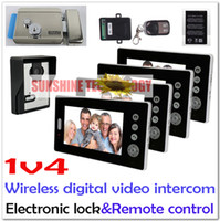 bell systems electronics - V1 Wireless Digital Video Door Phones Intercom System Door bells With IR NightVision Electromagnetic lock or electronic lock