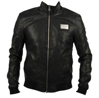 Cheap Wholesale-Free shipping Hot 2015 new men washed leather jacket collar Slim stylish casual black PU machine wagon jacket