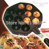 barbecue board - Octopus Barbecue Plate Burning Stove With Handle Plate Takoyaki Burning Board Cake Tools Pans