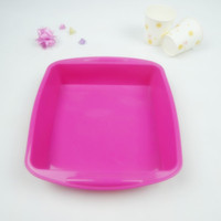 Wholesale Silicone Cake Mold Muffin Bakware Baking Pan Cooking Tool Cake Tools Square Cake Pans Cake Molds Kitchen Accessories FDKP HA