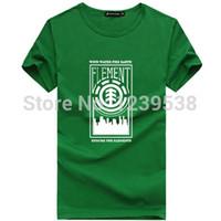 Wholesale New Arrival Skateboard Element Men T shirts Fashion Skateboard Street Boy Hiphop Hip hop Cotton Element T Shirt Men
