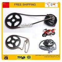 mini bike parts - chain front gear box rear sproket set cc cc pocket bike mini moto atv quad stroke part