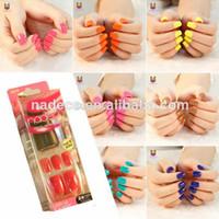 glue on nails - No Glue Needed Press On Falsa Nail Tips