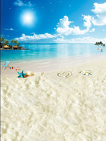 Cheap Wholesale-backgrounds for photo studio background 5x7ft photography cloth backdrops The sea has a chair on the beach
