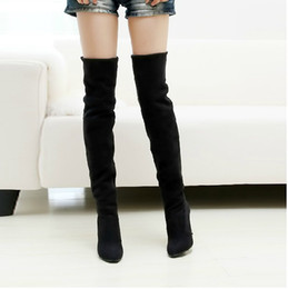 Black Fashion Wedges Thigh High Boots Online | Black Fashion ...