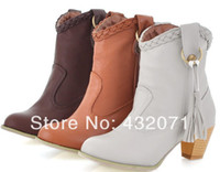 cowboy boots - Sale Fashion Female Boots Thick Heel Boots Cowboy Boots