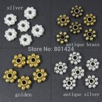 bali beads - Tibetan silver Daisy spacer beads bali beads mm