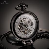 copper alloy - KS Luxury Brand White Skeleton Alloy Dial Analog Hand Wind Mechanical Relogio Fob Copper Key Steampunk Pocket Watch Men KSP064