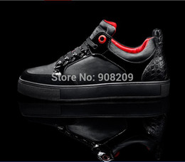 Wholesale-Free shipping Black  white yellow Genuine Leather Royaums high top womens mens sneakers